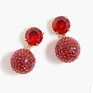 J Crew Pave Drop Earrings-NWT
